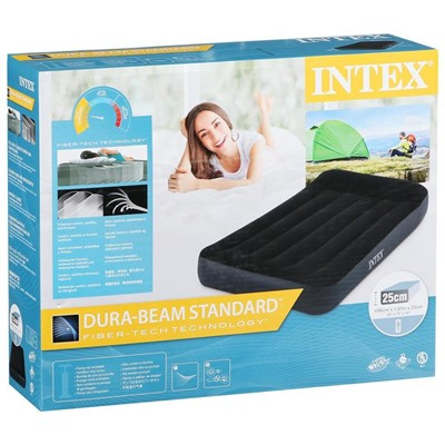 Матрас надувной Pillow Rest Classic Fiber-Tech, 99 х 191 х 25 см, 64141 INTEX