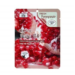 3W Clinic Маска для лица тканевая с гранатом - Fresh pomegranate mask sheet, 23мл