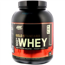 Optimum Nutrition, Gold Standard 100% Whey, Double Rich Chocolate, 5 lbs (2.27 kg)