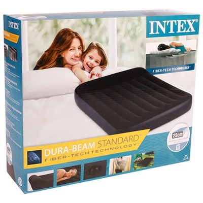 Матрас надувной Pillow Rest Classic Fiber-Tech, 137 х 191 х 25 см, 64142 INTEX